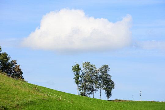 Einsame Landschaft, Bayern, Deutschland, Europa