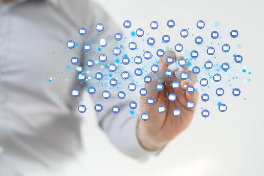 data network 3d digital info