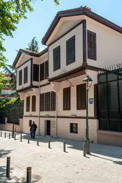 Street view of Ataturk House in Thessaloniki, Greece