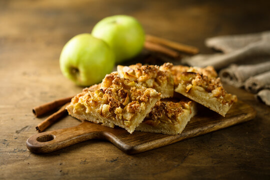 Traditional homemade apple pie with spices