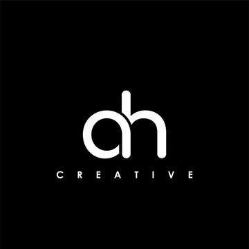 AH Letter Initial Logo Design Template Vector Illustration