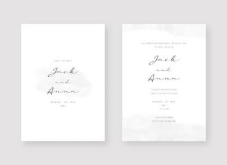 Fototapeta Invitation card template. Set of wedding invitation card template design. Vector decorative design background.