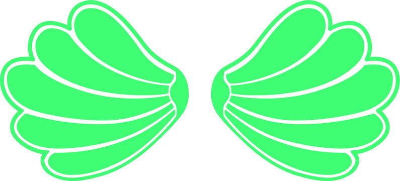 Two Sea Shells Bra, Mermaid Concept, Mermaid Top - Clam T-shirt Design