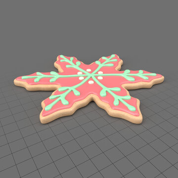Snowflake Christmas cookie 1
