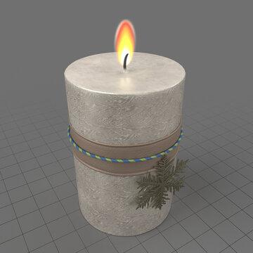 Christmas candle 3