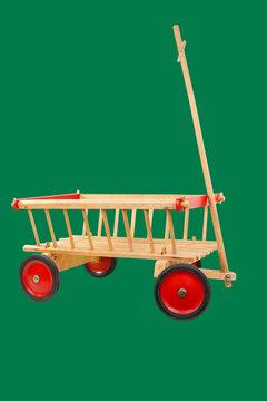 Kleiner Leiterwagen aus Holz für Kinder - klassisches Spielzeug
