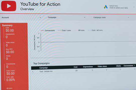 Google ads youtube dashboard