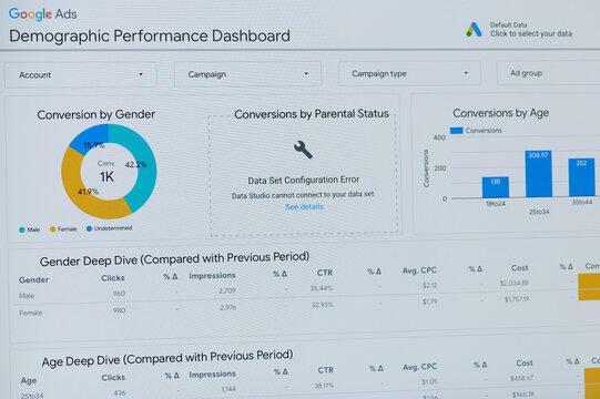 Google ads demographic performance dashboard