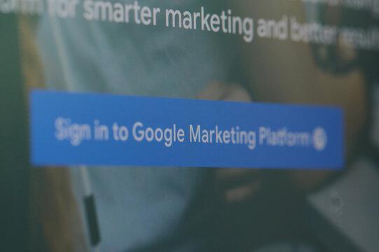 Sign in to google marketing platform