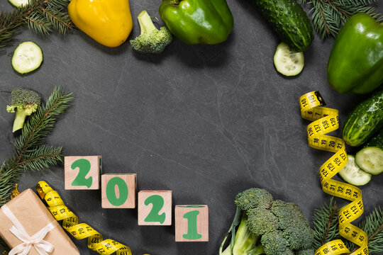 Healthy food and menu for Christmas and New year 2021