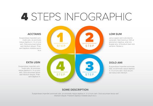 Minimalistic Four Steps Quatrefoil Layout