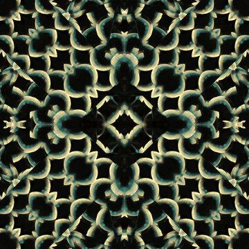 Interlace Circles Motif Seamless Pattern