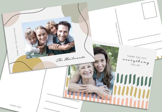 Organic Gratitude Postcard Layout