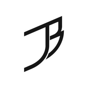 Initial letter bj logo or jb logo vector design templates
