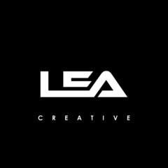 Fototapeta LEA Letter Initial Logo Design Template Vector Illustration