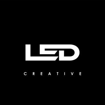 LED Letter Initial Logo Design Template Vector Illustration