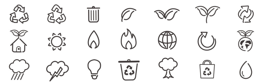 environment ecology icon set