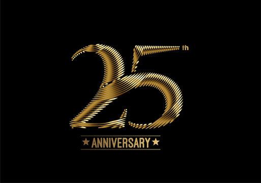 25th Years Anniversary Celebration Design. vector design.