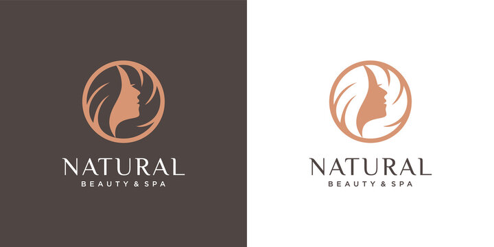 beauty hair logo premium vector