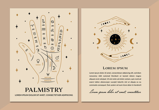 Psychic Palm Reading Card Layout