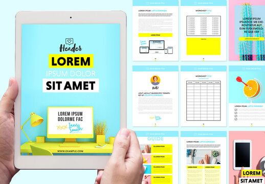 Colorful E-Course Workbook Layout