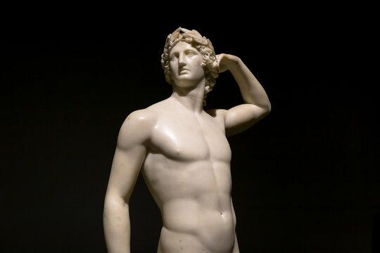 Apollo Crowning Himself - Antonio Canova's ancient sculpture in Italian Museum