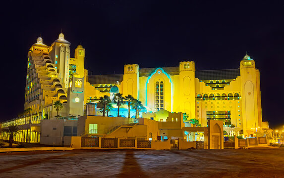 The evening on resort, on Feb 24, 2016 in Eilat, Israel