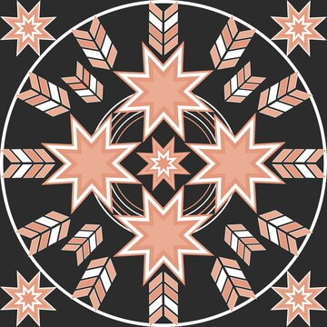 8 Point Star Seamless Pattern