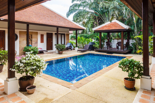 Balinese style villa with swimming pool