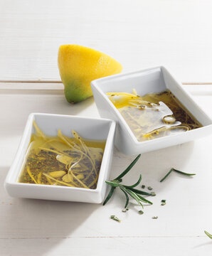Rosemary and lemon grill marinade with garlic and oil