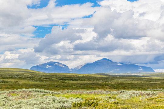 Mountain in the wilderness moor landscape