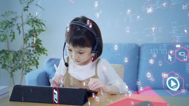 教育とテクノロジー 勉強する子ども エドテック