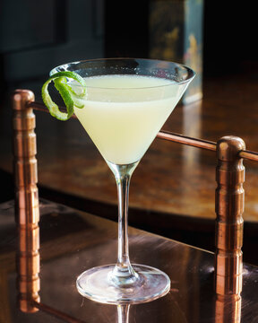 Lemon and lime vodka martini
