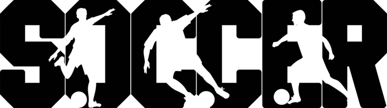 Soccer on the white background. Vector illustration