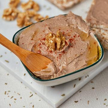 chickpea, walnut and rosemary hummus