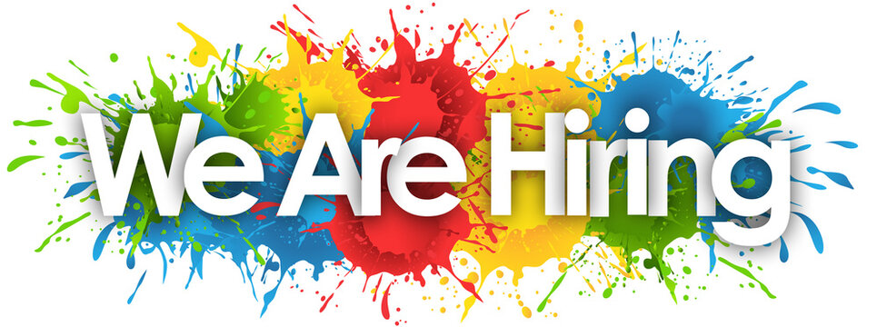 we are hiring word in splash's background