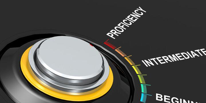 Knob turn to proficiency direction