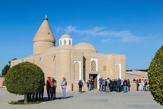 Chashma-Ayyub mausoleum (the source of Job) in the historical center of Bukhara, built in the 14th century. Uzbekistan