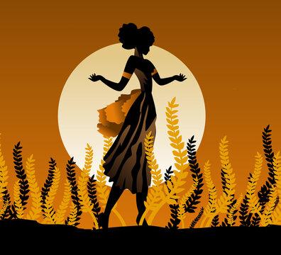 demeter ceres greek roman mythology goddess of agriculture on plantation