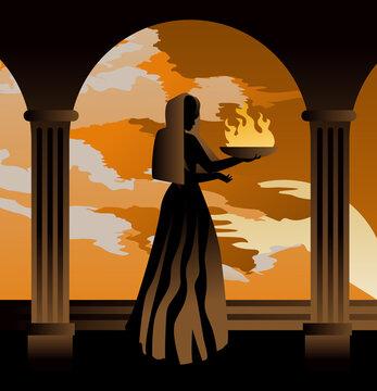 hestia greek mythology goddess of home