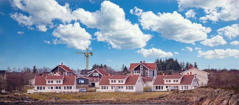 Residential Area Mosheim Northern Norway