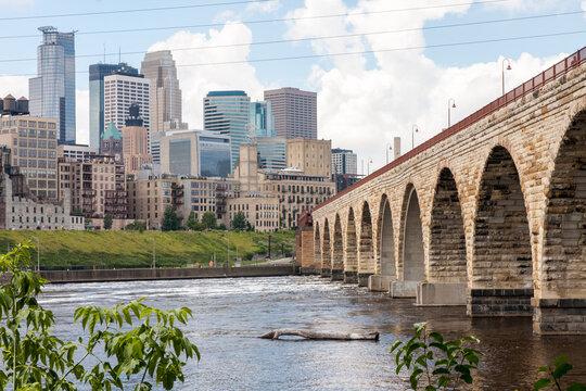Stonearch Bridge in  Minneapolis, Minnesota