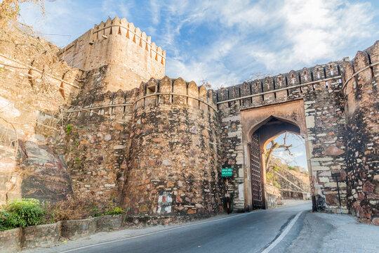 Jorla Pol gate of Chittor Fort in Chittorgarh, Rajasthan state, India