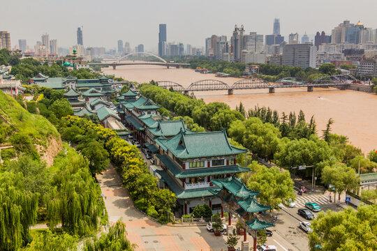 Yellow river (Huang He) in Lanzhou, Gansu Province, China