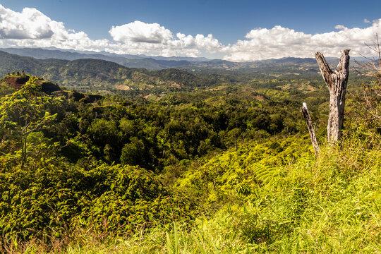 Landscape of central Dominican Republic