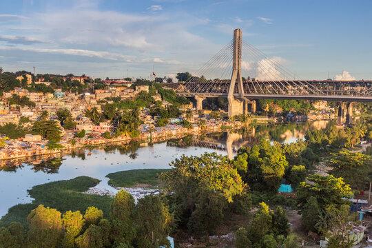 Puente Francisco del Rosario Sanchez bridge in Santo Domingo, capital of Dominican Republic.