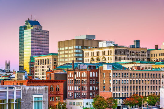 Worcester, Massachusetts, USA Skyline