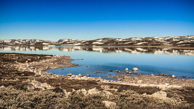 Hardangervidda mountain plateau landscape, Norway