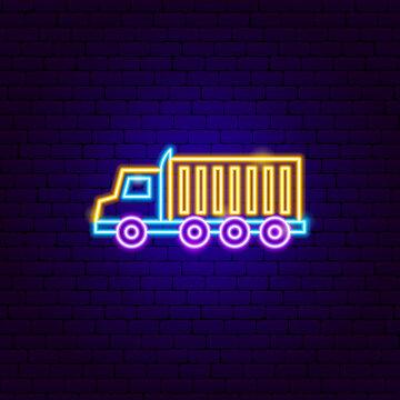18 Wheeler Truck Neon Sign