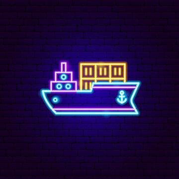 Cargo Ship Neon Sign
